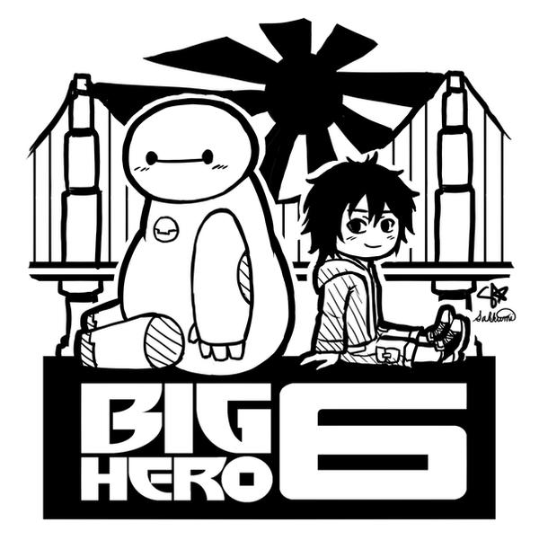 Big Hero 6 - Baymax and Hiro by sakurasamichan