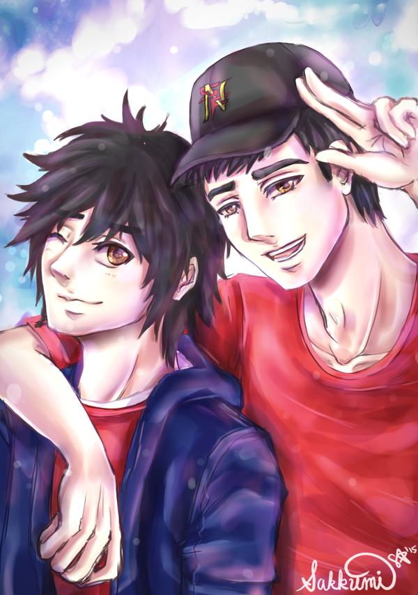 Big Hero 6 : Hamada Brothers by sakurasamichan