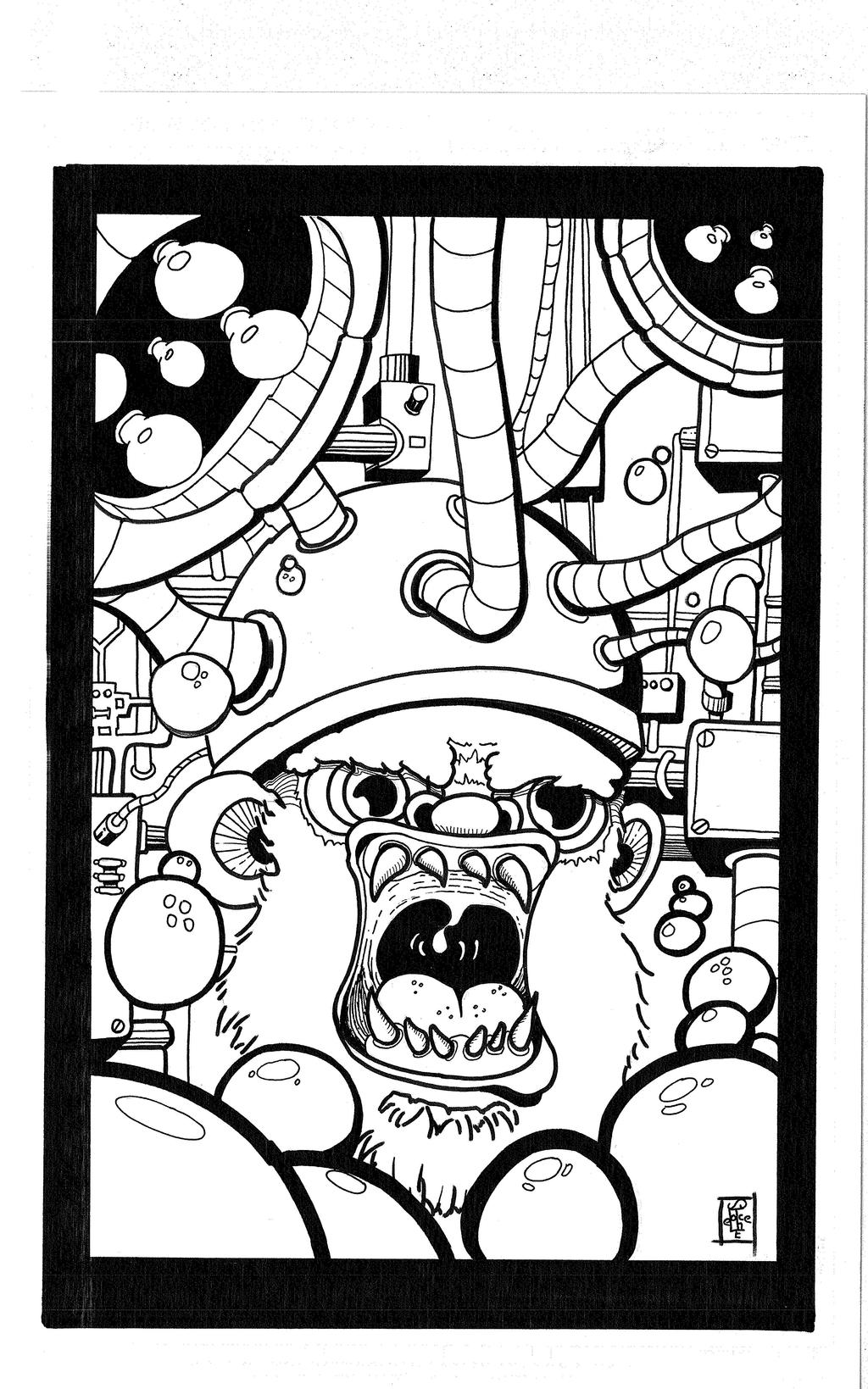 Tortured Monkey Adult coloring book page