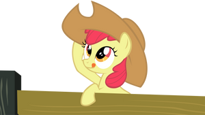 Apple Bloom adjusts her hat by nydonut