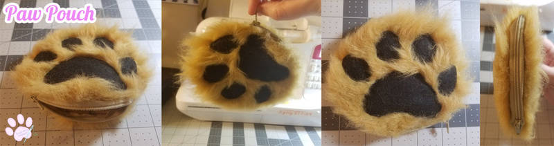 Paw Zipper Pouch - FOR SALE