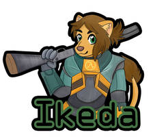 Ikeda FurReality 2018 Badge (Digital Ver)