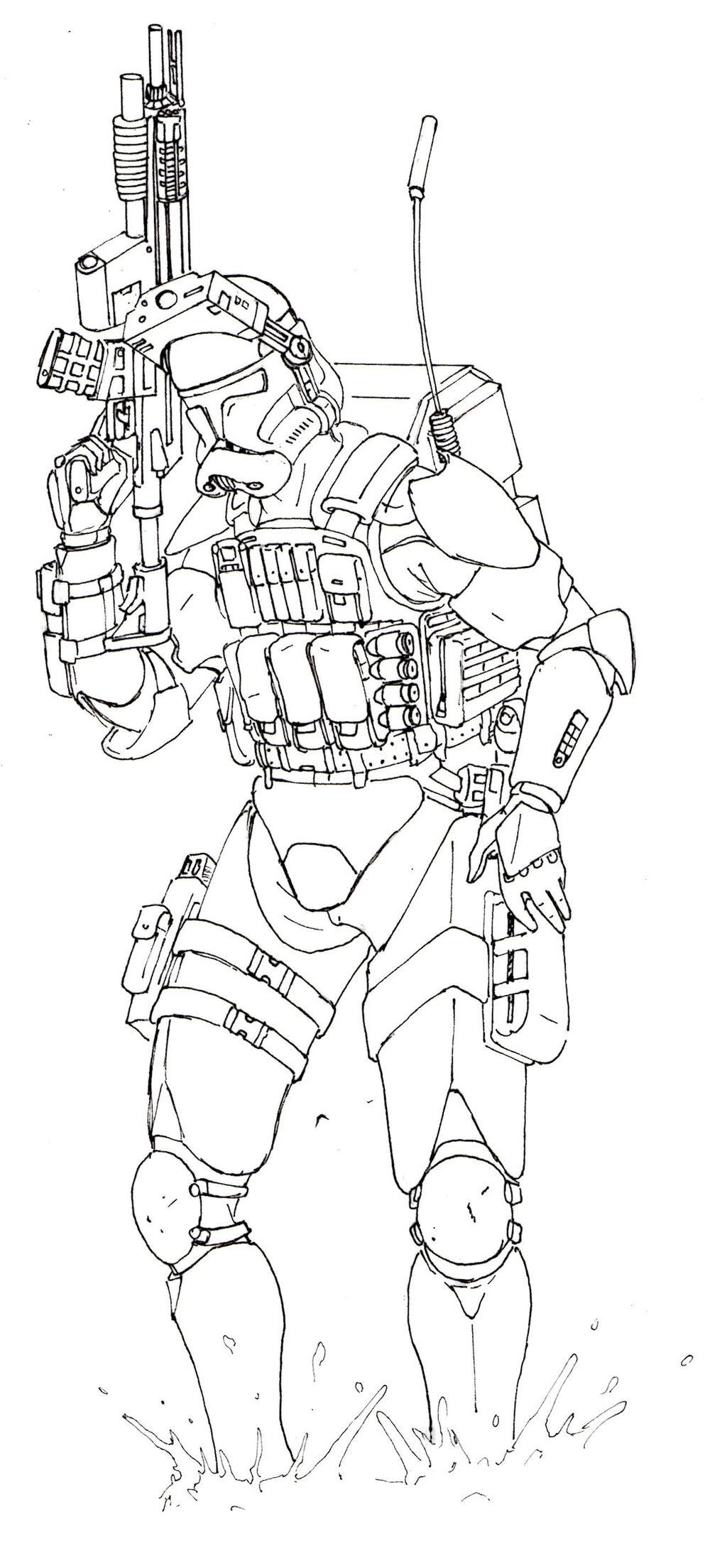 M/phase 2 Clone Trooper Coloring Pages Coloring Pages
