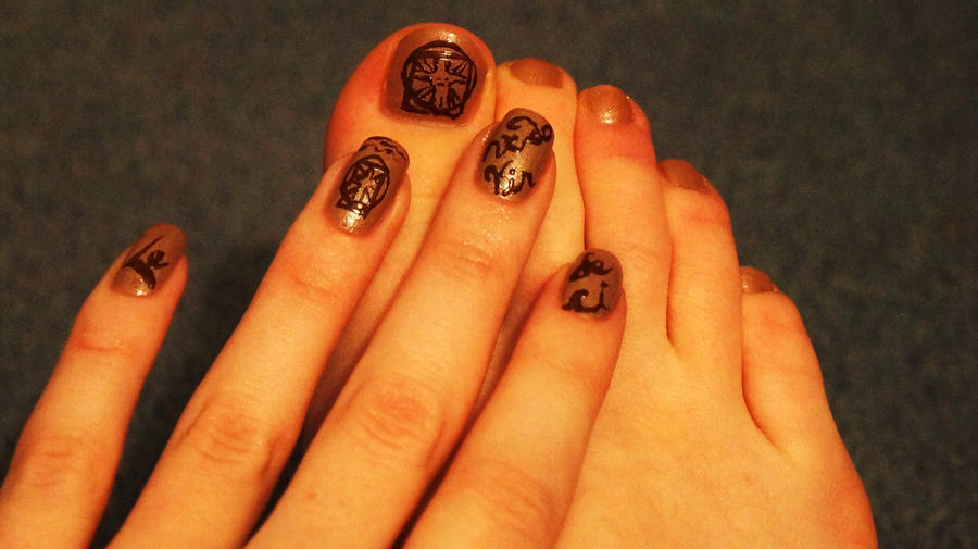 Lenardo da vinci nails by Sydney0007