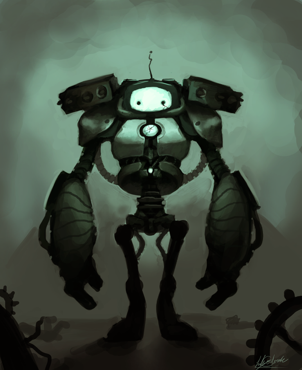 Sad Robot by Ondinel