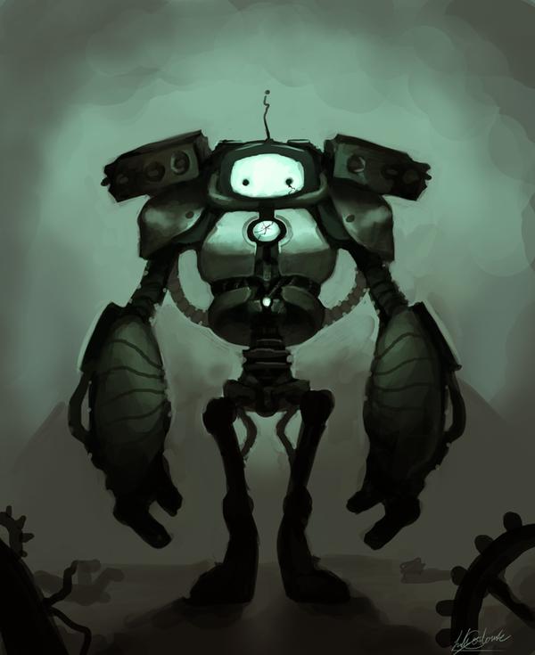 Sad Robot by LilyOndine