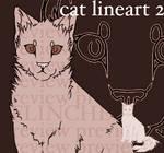 CAT LINEART 2