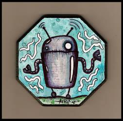 Little Robot Plaque by justinaerni