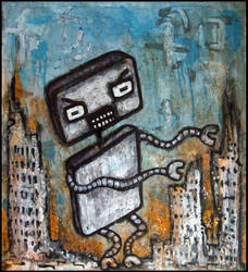 Mega Robo Boy Attacks by justinaerni