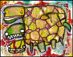 Three Headed Turtle by justinaerni