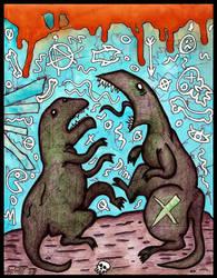 Dinosaur Fight by justinaerni