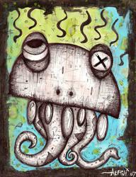 Squid Face by justinaerni