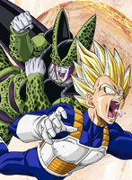 Vegeta gets ownd by Cell by OnEAndOnleHOcE