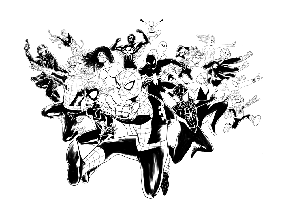 Into The Spider Verse - Free Coloring Pages