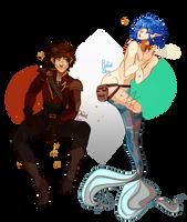 Daniel Lee and Rupert Character Art by Dottea