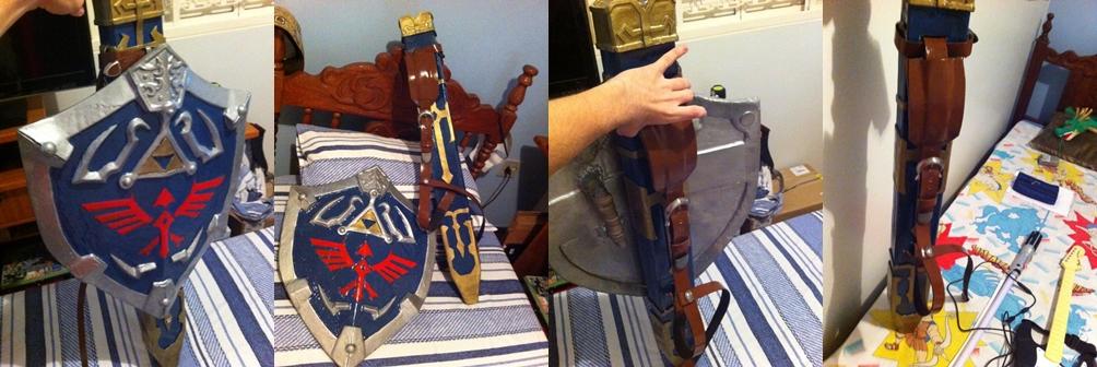 Shield and Sword Sheath - Link Twilight Princess by kurosakimaikon