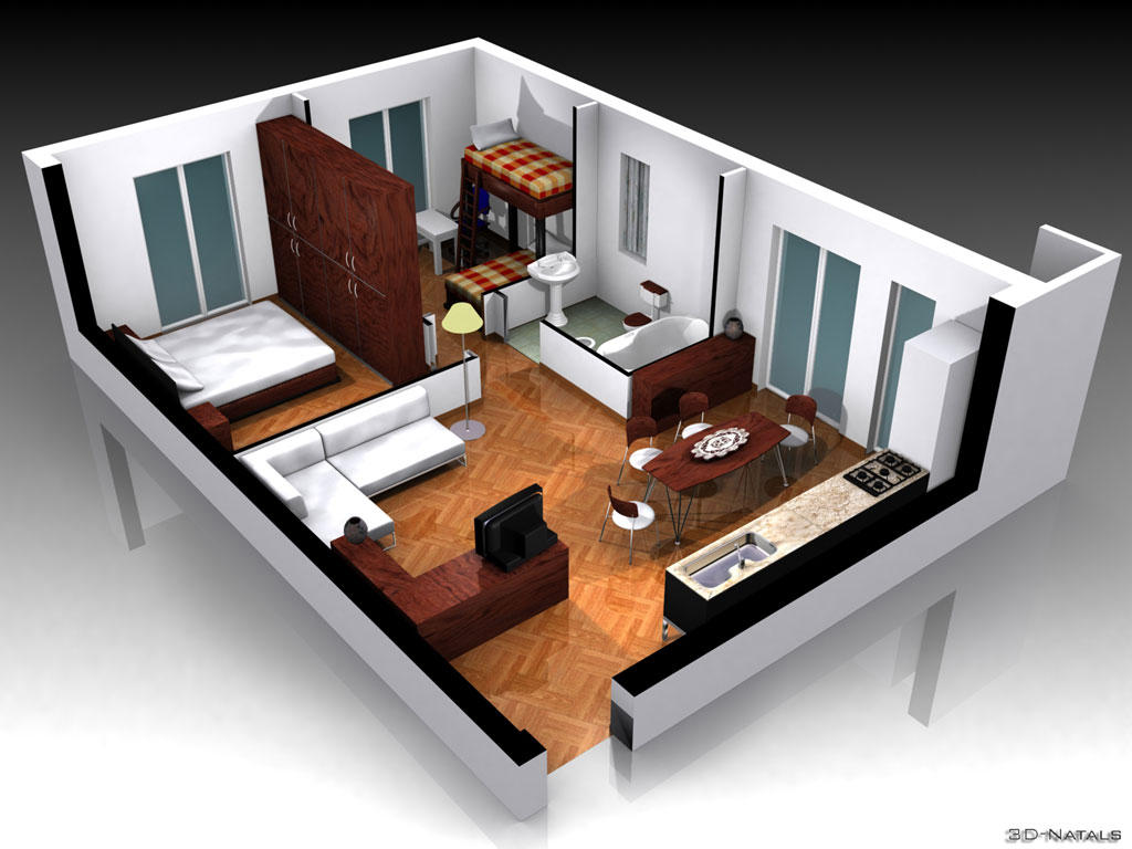 Interior design by 3d natals on deviantart for Create 3d home design online