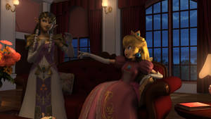 Peach and Zelda
