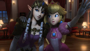 Peach And Zelda2 by fwcolbert
