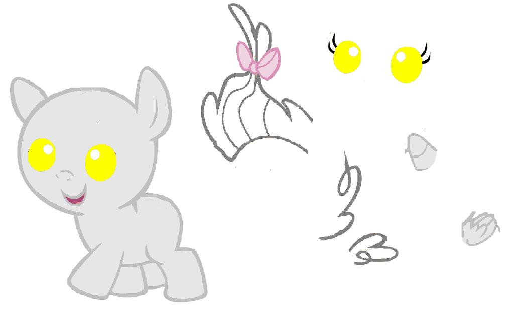 Baby Mlp Base Mlp baby pony base by