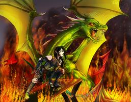 Green firebringer by ChatterFox