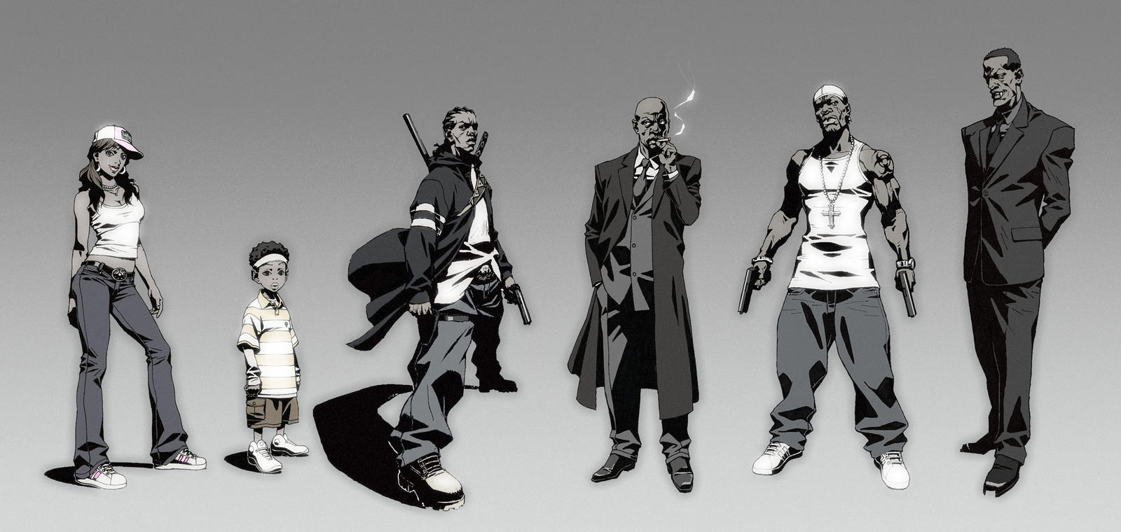 Character Design Backgrounds : Character line up by kse on deviantart