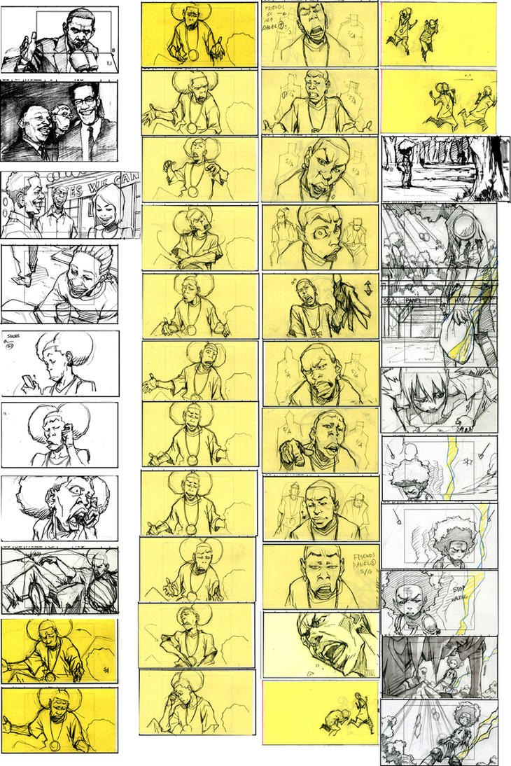 Boondocks season 3 rough SB by kse332