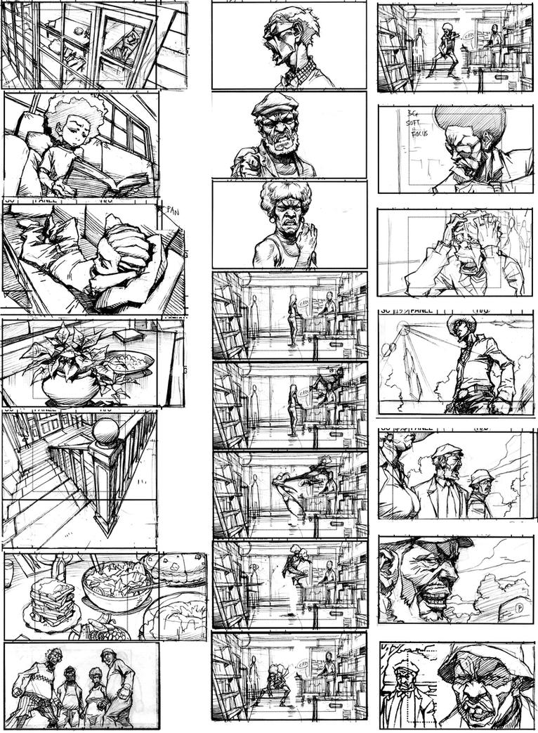 Boondocks season 3 rough SB-2 by kse332