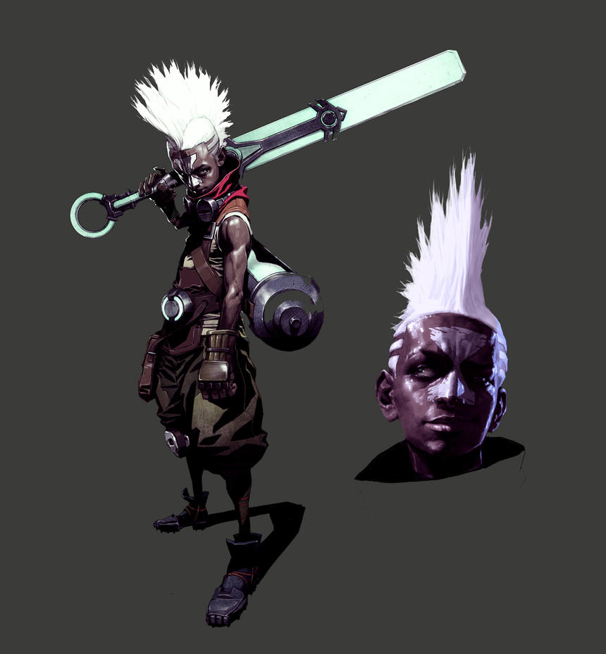 LOL Ekko concept art by kse332