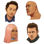 2d animation characters study