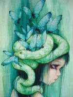 Purple Tear Girl by camilladerrico