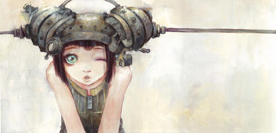 Helmetgirls - Winking Girl by camilladerrico