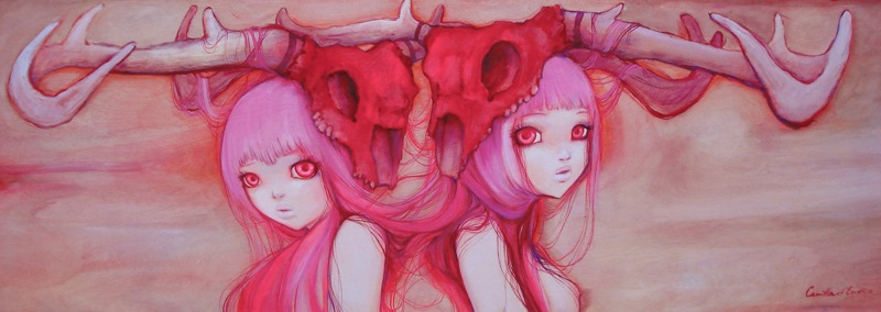 Pink Twin Rainbow by camilladerrico