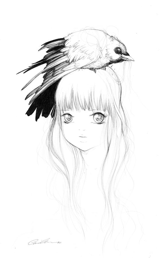 Dark Horse Sketch by camilladerrico