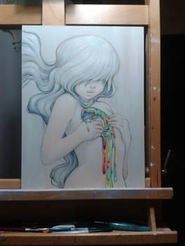 Rainbow Spill Girl photo