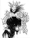 Witch Queen BW Pinup