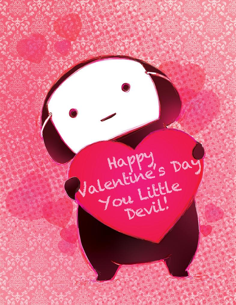 Camilla d'Errico Kuro Valentines Card by camilladerrico