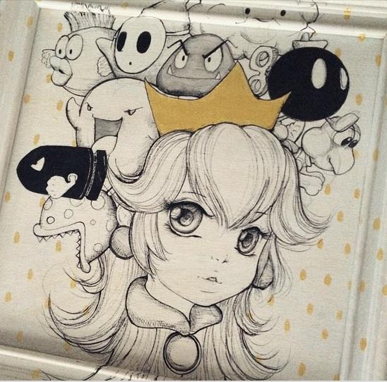Princess Peach by camilladerrico