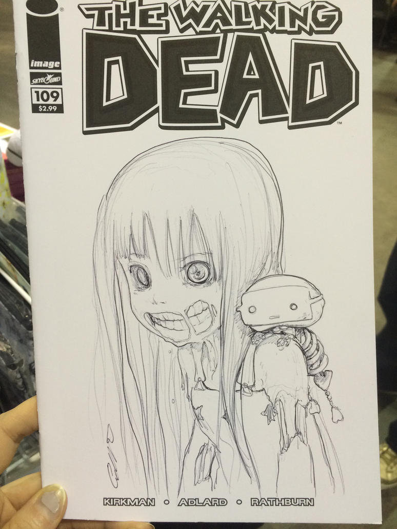 Tanpopo - Walking Dead Sketch Cover by camilladerrico