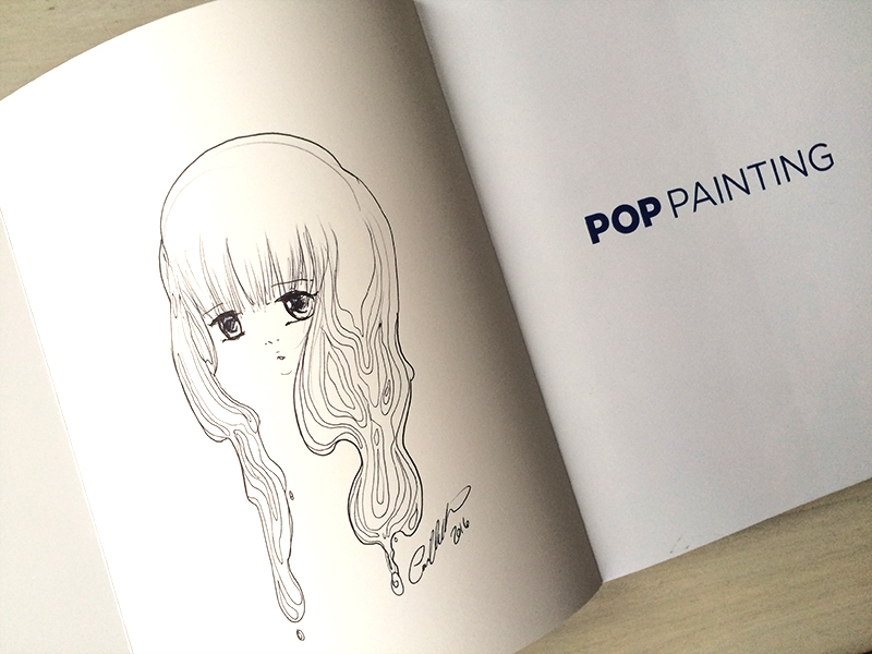 Pop painting sketch inside by camilladerrico
