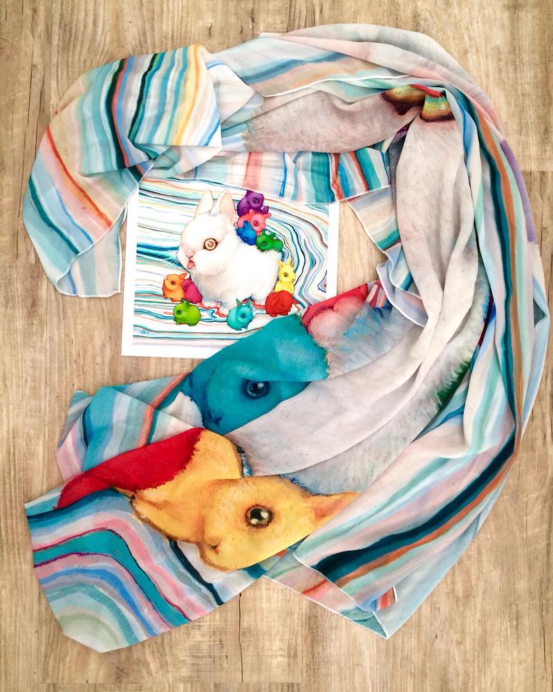 Rainbuns scarf sale by camilladerrico