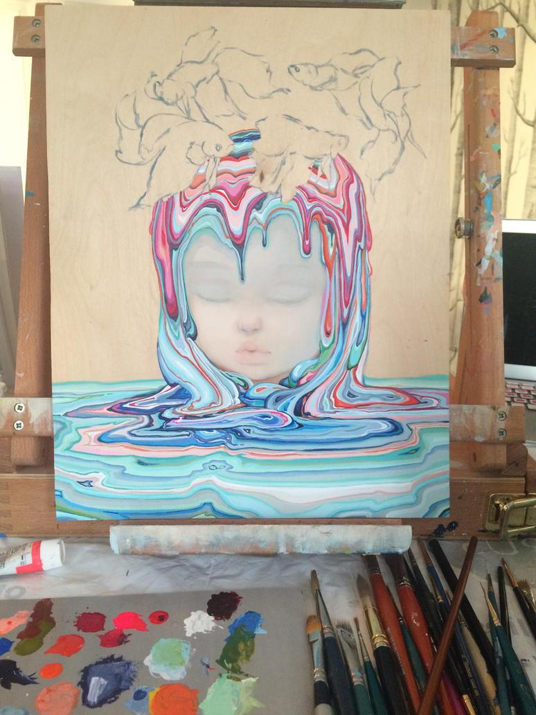 Bettas on My Mind WIP by camilladerrico