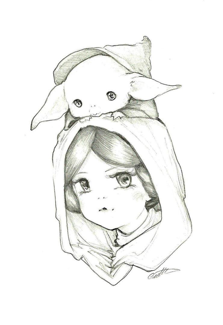 Princess Leia and Yoda by camilladerrico