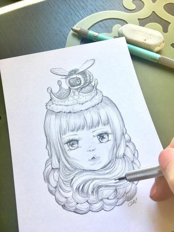 Drawing WIP by camilladerrico