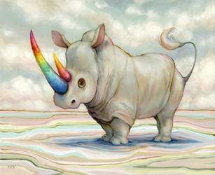 Albino Rhino  by camilladerrico