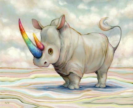 Albino Rhino