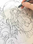Inktober Mermaid in progress