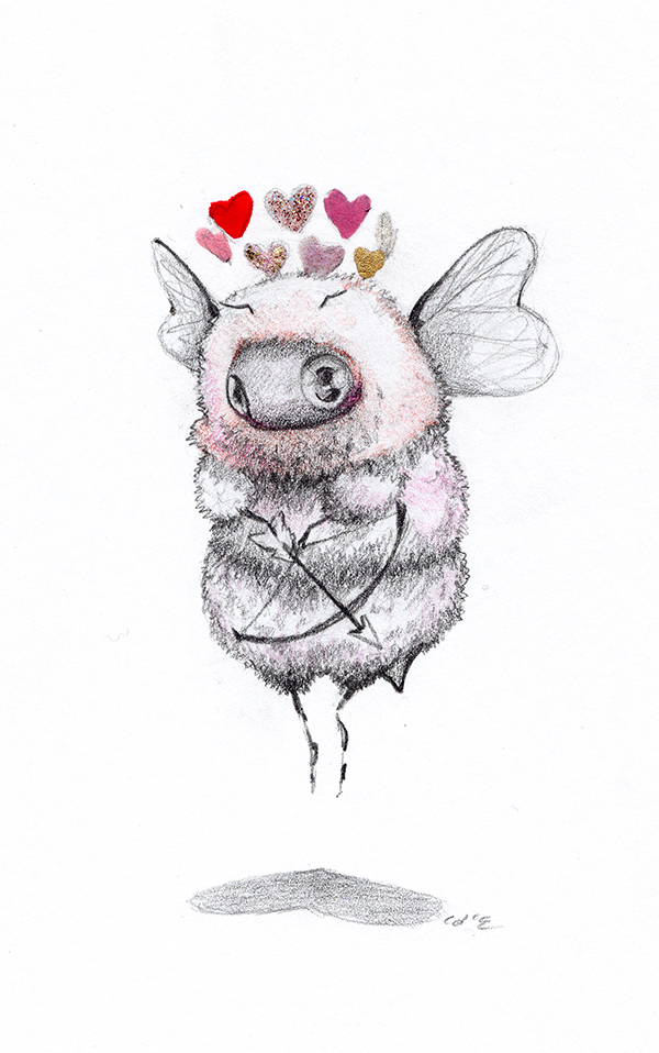 Cupid Bee by camilladerrico