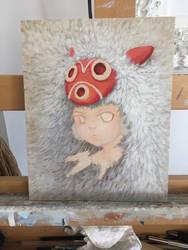 Princess Mononoke WIP by camilladerrico