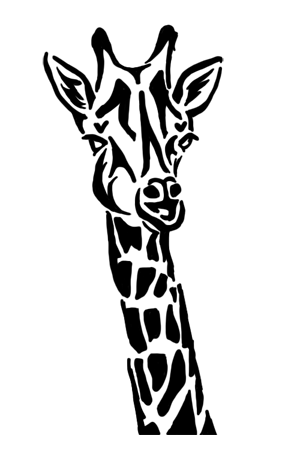 Tribal giraffe tattoo - photo#3